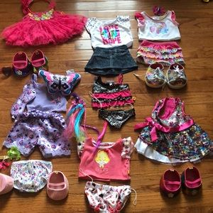Build a bear clothes, shoes and accessories!